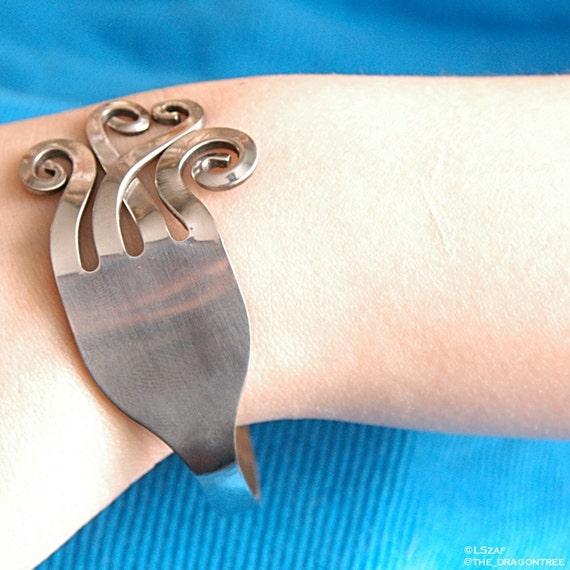 Stainless steel fork bracelet, Soar, fits most sizes