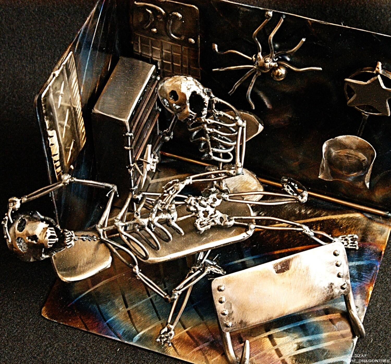 Skin Deep,Custom Business Card Holder ,Tattoo Shop,Morgans Collection