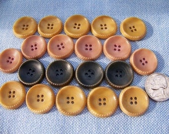 Lot of 21 Vintage Dyed Vegetable Ivory Buttons 3 Sets