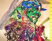 Scrap RIBBON Cord Grab Bag Bundle Free Shipping for Multiple DIY Projects Doll Clothing Flowers Hair bows