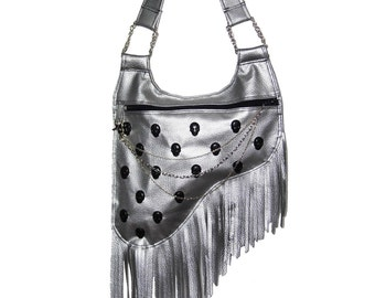 "Laura Diamond "" Silver gun bag"""