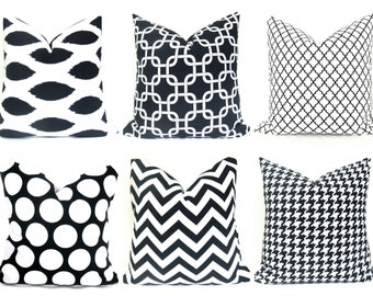 Decorative Pillows - Pillow covers - Black Pillow - 20x20 pillow covers - pillow covers 18x18  - home decor - pillow covers for couch