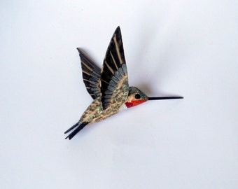 hummingbird art paper mache sculpture bird ornaments