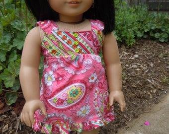 """Handmade sundress  for 18"""" dolls or american girl dolls"""
