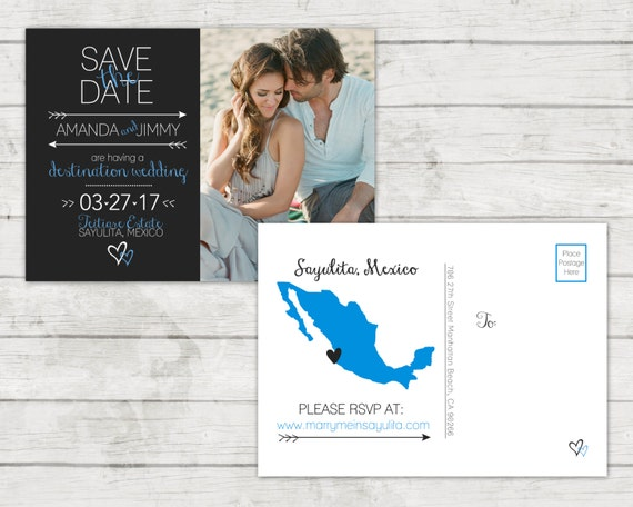Save The Date Announcement | Digital File Only | Printing Available | Custom State or Country Outline