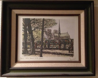 Paris framed print from the 70's.