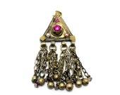 kuchi pendant, afghan tribal pendant  - vintage, handmade pendant