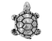 3 TierraCast Turtle 5/8 inch ( 15 mm ) Silver Plated  Pewter Beads
