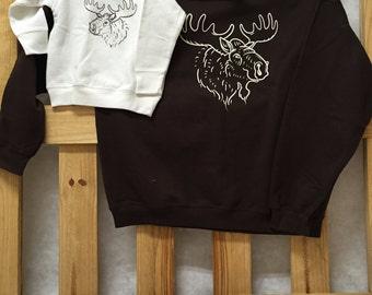 Moose Sweatshirts-Daddy and Me set