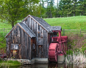 A Vermont Mill -  Nature photography, landscape photography, fall, autumn, fine art print, wall art, pond, new england