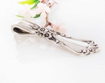 Vintage Spoon Pendant - Spoon Necklace - Valley Rose Silverware Pendant - Silverware Spoon Jewelry - Spoon Pendant - Spoon Jewelry (mcf022)