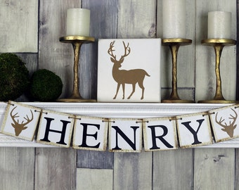 Woodland Baby Shower, Woodland Nursery Decor, Name Sign, Custom Name, Custom Name Sign, Baby Name Sign, Birthday Banner,  Woodland Birthday