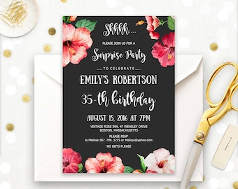 Th Birthday Invite Etsy - Editable birthday invitations for adults