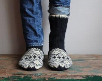 Women's Felted Wool Slippers, women's Wool slippers, Wool slippers
