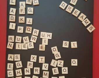 Magnetic scrabble wall hanging