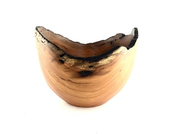 Wood Bowl No.160669- Natural Edge Amarello Wood