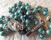 Swarovski Mint Green Pearl Rosary