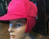 Vintage Winter Hat With Ear Flaps / Unique Winter Hat / Unisex Winter Hat / Rain Resistent