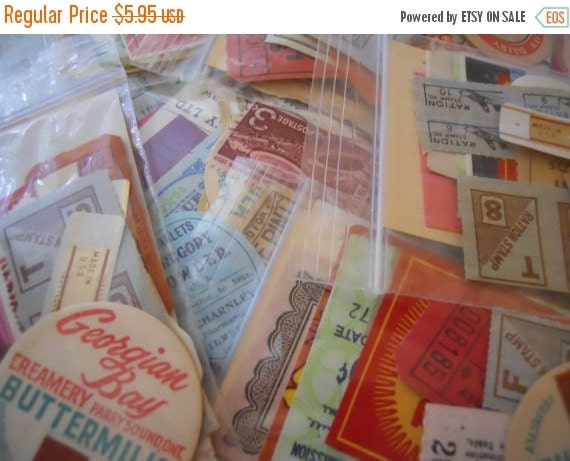 HUGE SALE Small Vintage Ephemera Pack 25 Piece Vegas Buffet | Collage Kit | Mini Paper | Inspiration Supply | Tickets | Stamps | Labels | Mi