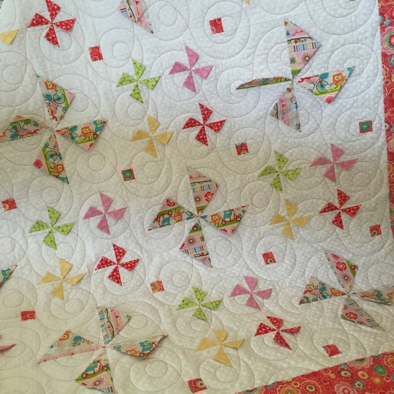 The Kind-ly Pinwheels Quilt Kit using Tree Party fabric from Riley Blake Designs ~ SALE PRICE!