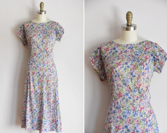 30s Dust Bowl of Happiness dress / vintage 1930s cotton daydress/ vintage 30s floral day frock