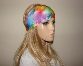 yoga headband - multicolor turban headband - hippie workout headband - excercice headband - fitness hair band - Woman boho head wrap