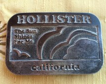 Vintage 70's Hollister California Belt Buckle