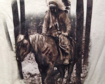 The Journey Home Native American on horseback T Shirt
