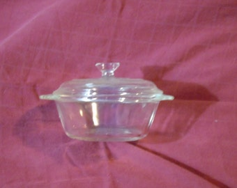 Miniature fire king casserole 8 ounce with lid