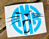 Panther Circle Monogram Decal, Car Decal, Computer Decal, Yeti Decal, Tumbler Decal, Vinyl , Panther Pride, Panther Nation (made to order)