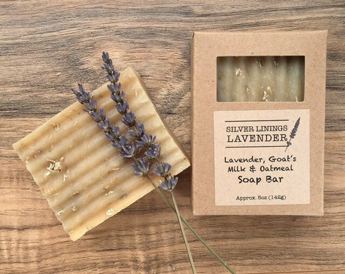 Natural Moisturizing Lavender, Goats Milk & Oatmeal Bar Soap