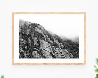 Black and White Printable Wall Art Instant Download Mountain Landscape Photo Contemporary Wall Art Printable Poster Digital Print Art Cliff