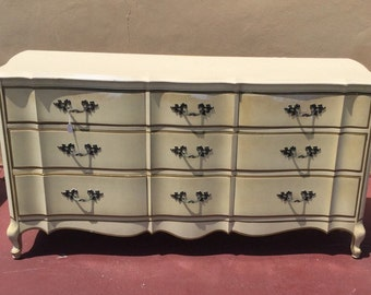 Hollywood Regency French Provincial Dresser Henry Link Style