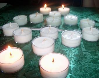 Handmade Unscented Soy Tea Lights Set of 12