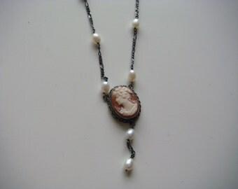 Vintage Victorian Cameo Necklace