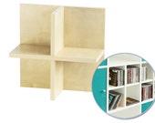 CD usage for IKEA Kallax shelf / Birch