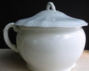 ON SALE Lovely Laughlin Antique Ironstone Chamber Pot / Nineteenth Century