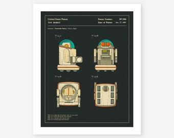 ROBOT PATENT 1987 (Giclée Fine Art Print/Photo Print/Poster Print) dark version