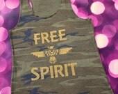 FREE SHIPPING-- Free Spirit Camo Tank