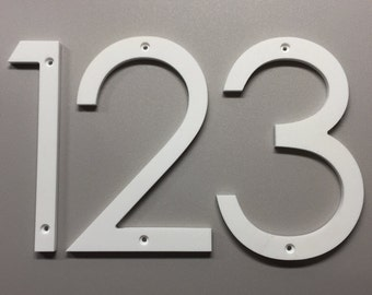 5 inch Modern House Numbers Letters