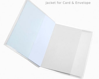 100 Pack A6 Card Jackets, Cello Bags, Dust Jackets; Hold One A6 Card and One A6 Envelope