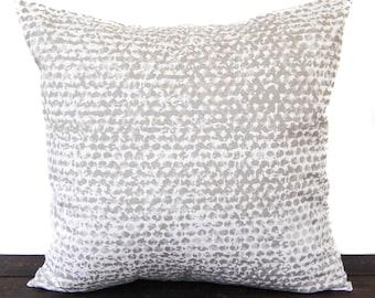 Pillow, Throw Pillow, Pillow Cover, Cushion, Decorative Pillow, Cove Beige Tan White White Zoey Batik