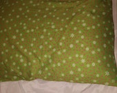 Green Candy Cane and Snowflake Standard Size Pillowcase