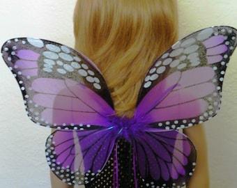 Butterfly Tutu Dress Costume, Purple Fairy Princess Costume, Purple Wings