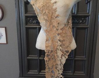 Stunning Antique Lace Sash Collar