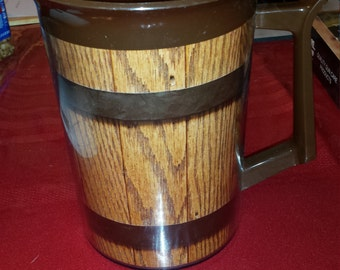 Vintage 55 OZ Thermo-Serv Brown Insulated Pitcher