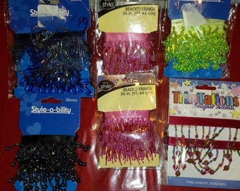 Assortment of Beaded Fringe