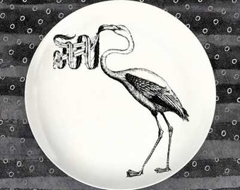 flamingo no.2 melamine plate dinnerware