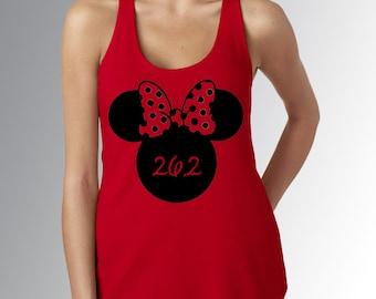 Minnie Mouse 26.2 * Disney Marathon * Red * Racer Back * Jersey Top * Disney Running Shirt * RunDisney * Run Disney
