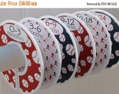 ON SALE 6 Baby Closet Dividers Boys Baby Shower Gift Baseball Nursery Clothes Organizers Sports Theme Red Navy